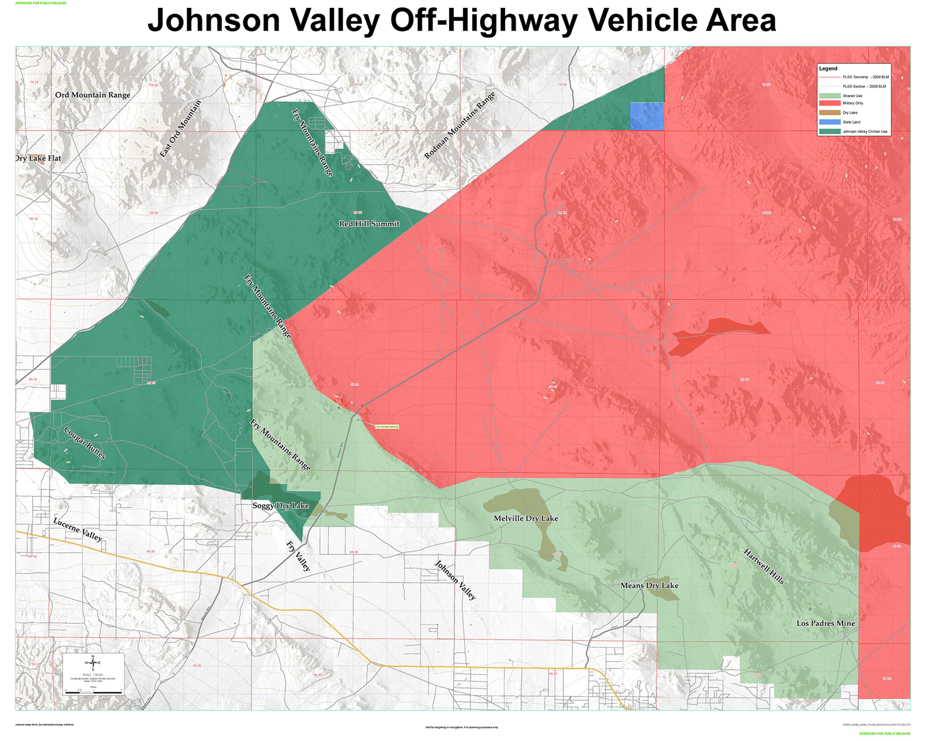 Map Of The Johnson Valley Land Expansion