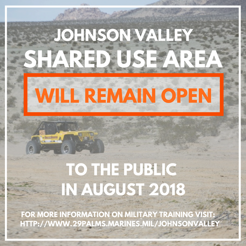 Johnson Valley Shared Use Area: LSE Update