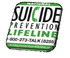 Suicide Prevention Hotline 1-800-273-TALK (8225)